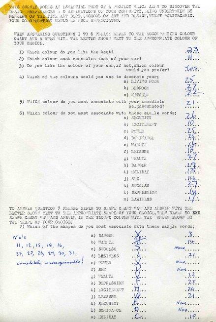 Stephen Willats: Man From The Twenty First Century, A response sheet