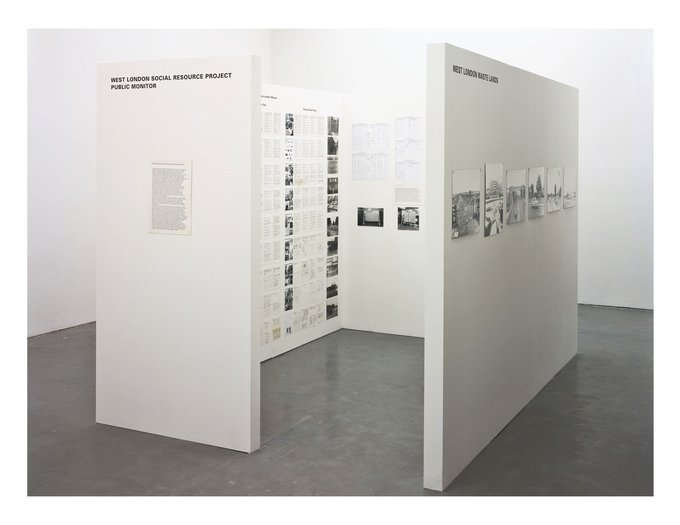 Stephen Willats: The West London Social Resource Project, A reproduction of the Public Monitor of West London Social Resource Project that was shown at Gallery House London 1972