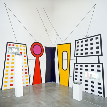 Stephen Willats: Cybernetic Still Life No: 6. Installation at Galerie Thomas Schulte, Berlin