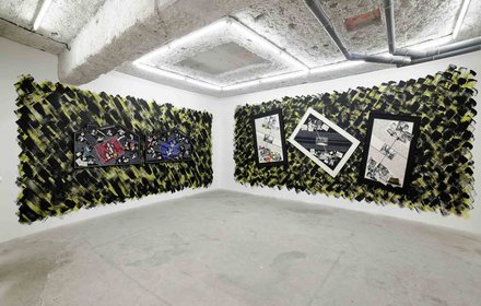 Stephen Willats: Inside The Night images from the exhibition at Galerie Balice Hertling, Paris