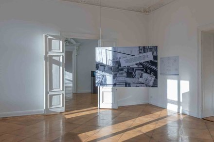 Stephen Willats: Berlin Local - Project installation at MD72, Berlin
