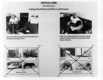 Stephen Willats: Vertical Living, Display Board from Vertical Living