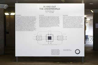 Stephen Willats: In and Out the Underworld, Description of the work at the entrance