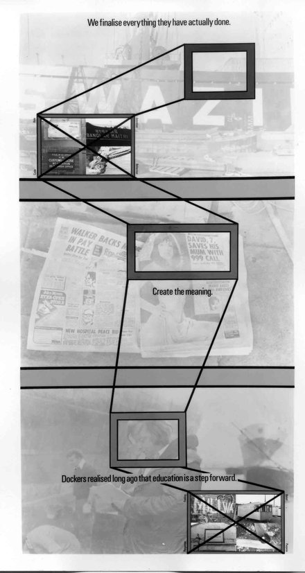 Stephen Willats: Working Within a Defined Context, Panel Four